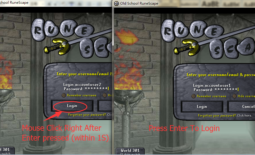 How to transfer Runescape Gold from one account to another